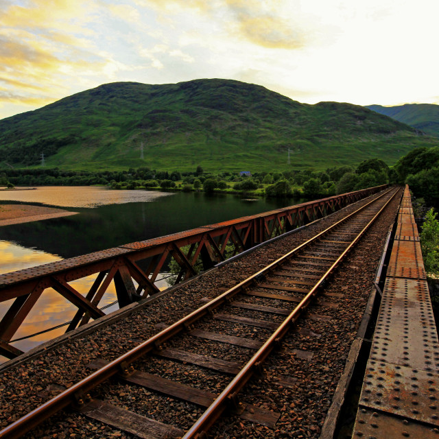 """Railway at Loch Awe"" stock image"