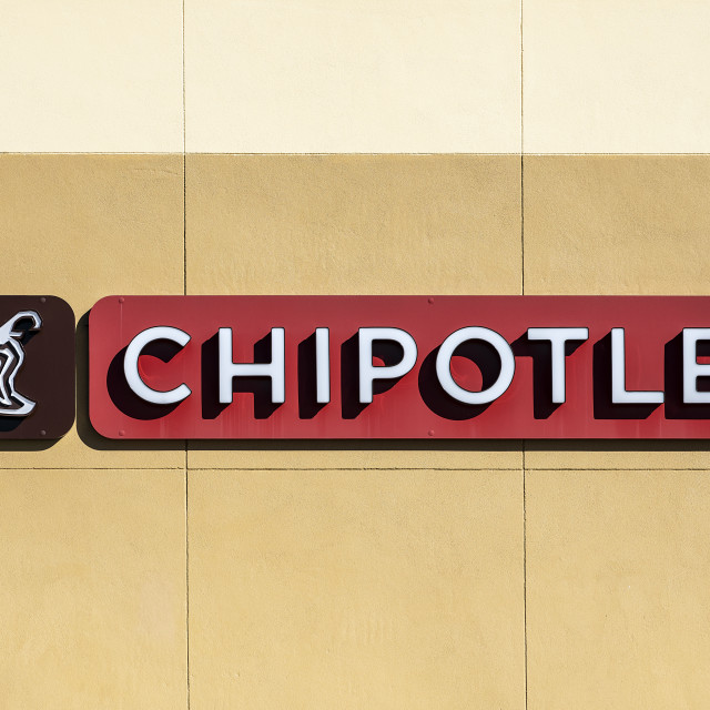 """Chipotle Mexican Grill, logo and sign"" stock image"