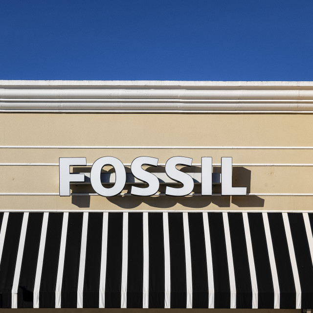"""""""Fossil watch store and sign"""" stock image"""