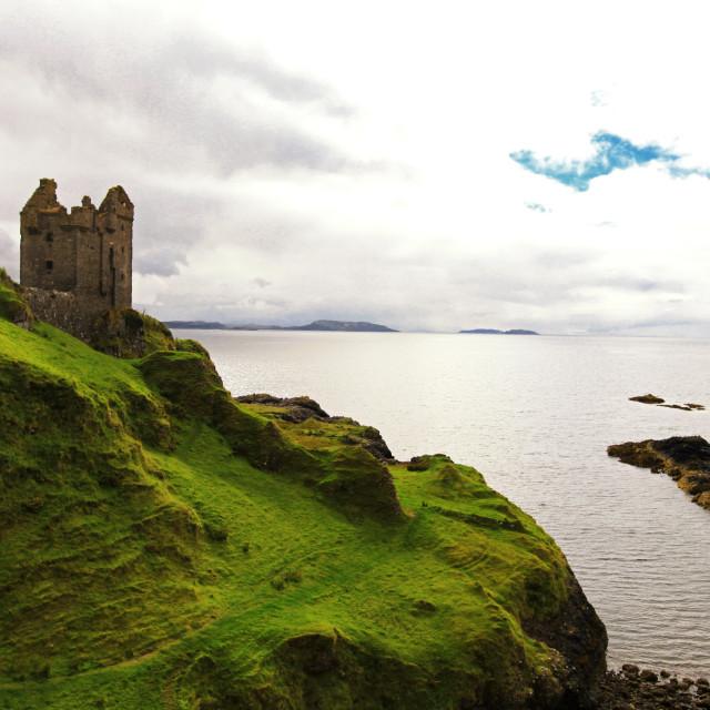 """Gylen Castle, Isle of Kerrera"" stock image"