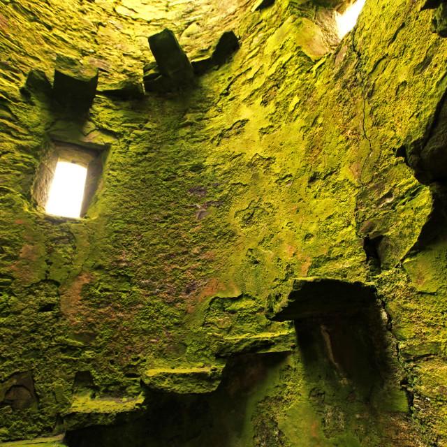 """Ruins of Gylen Castle, Isle of Kerrera"" stock image"