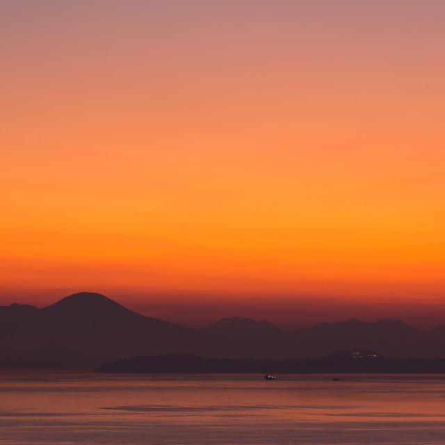 """Vesuvius Before Dawn"" stock image"