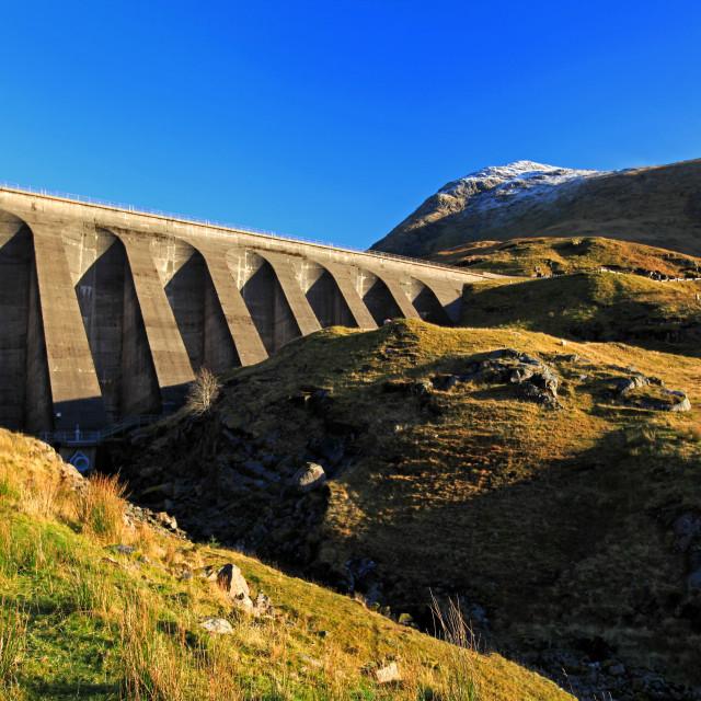 """Cruachan Dam"" stock image"