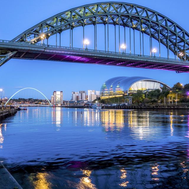 """The Tyne Bridge."" stock image"