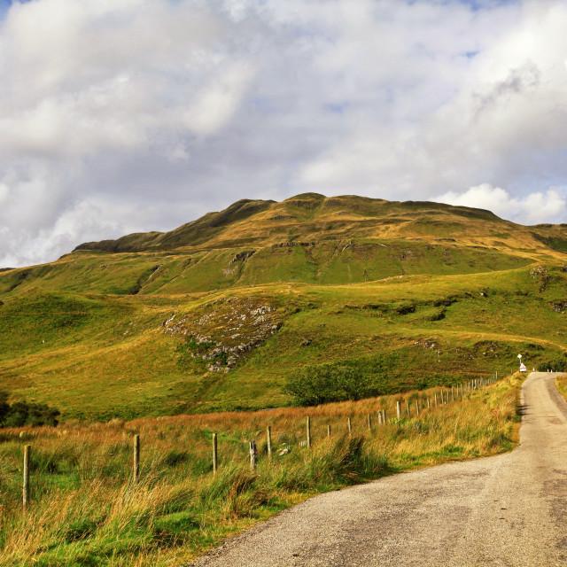 """Road on the Ardnamurchan peninsula"" stock image"