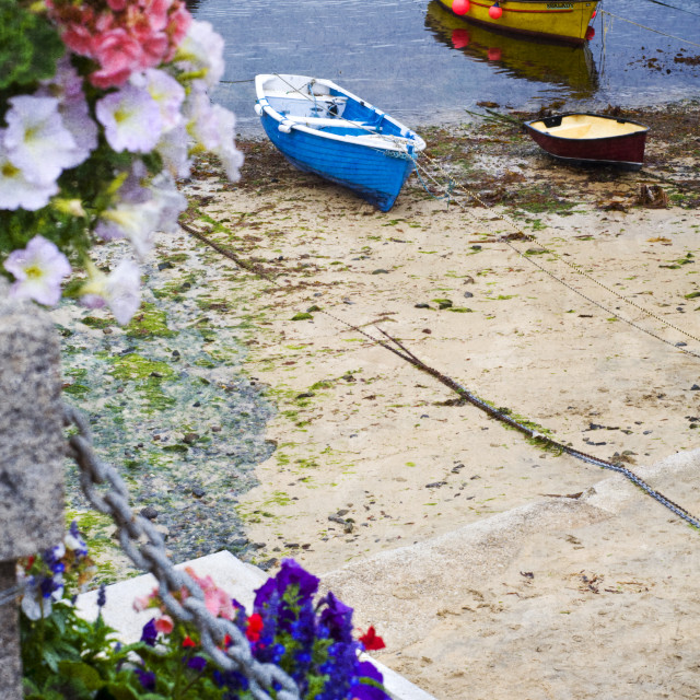 """Mousehole Boats"" stock image"