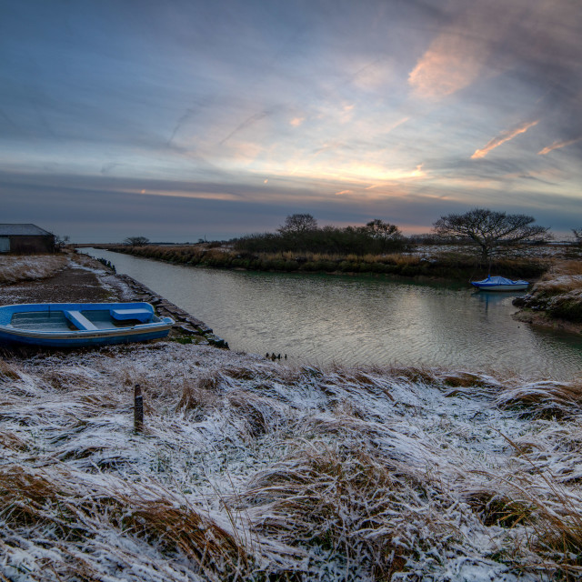"""""""Wintry Sunrise at Beaumont"""" stock image"""