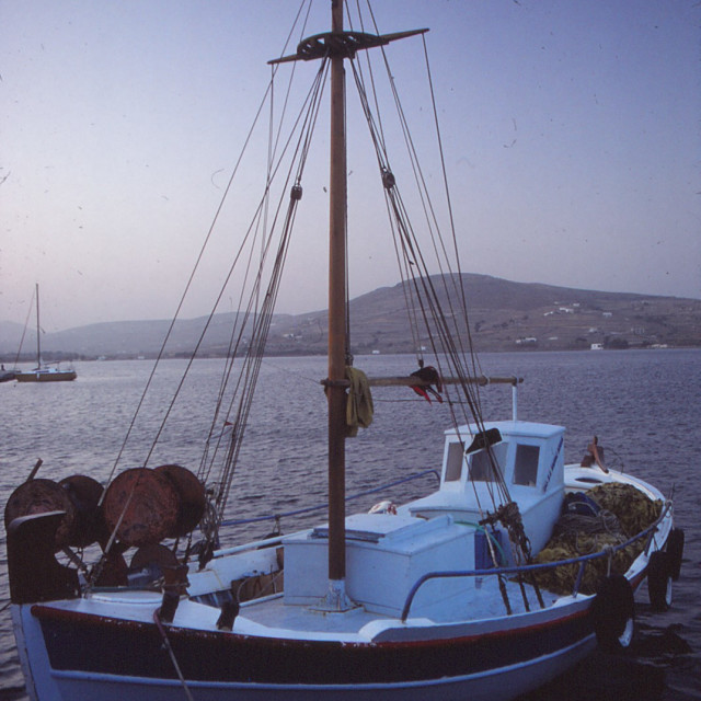 """Evening in the Cyclades"" stock image"
