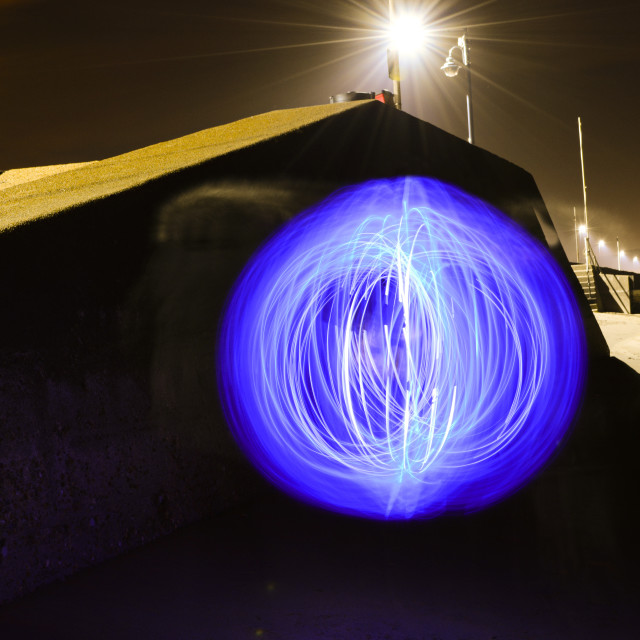 """Sea Wall Orb of Light"" stock image"