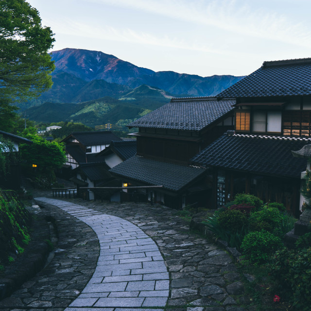 """Ancient town of Magome"" stock image"