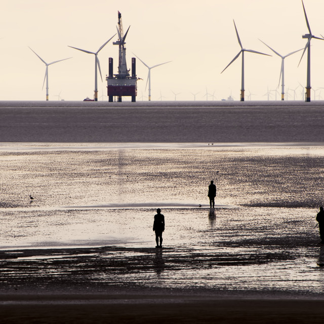 """View of Crosby Beach"" stock image"