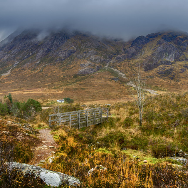 """""""Buachaille Etive Mòr from the Devil's Staircase"""" stock image"""