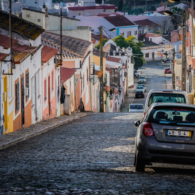 """Urban streets of Silves"" stock image"