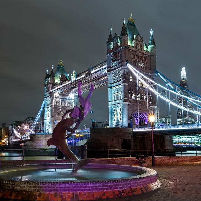 """Tower Bridge at Night"" stock image"