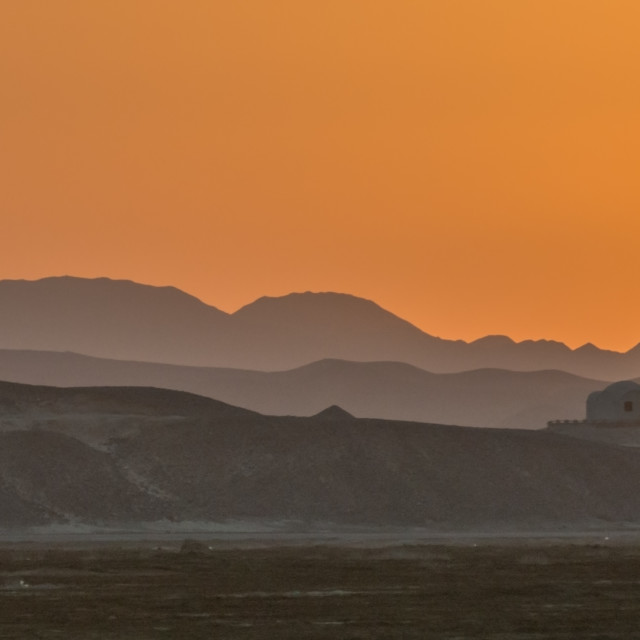 """Sunset at Wadi Lahami"" stock image"