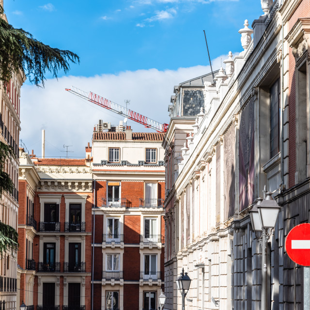 """""""Luxury old residential houses in centre of Madrid"""" stock image"""