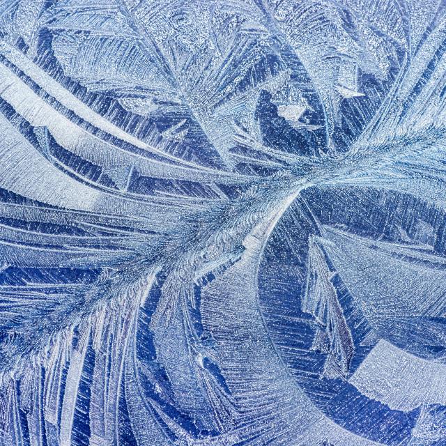 """""""Hoar frost pattern on car"""" stock image"""