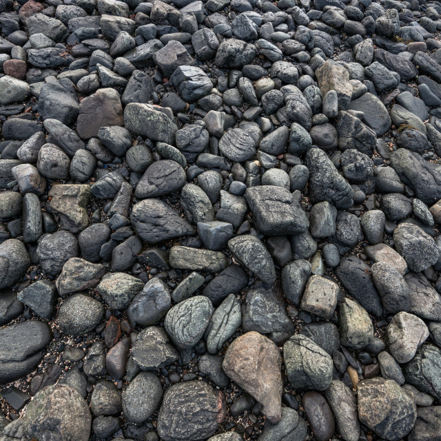 """Scottish beach pebbles"" stock image"