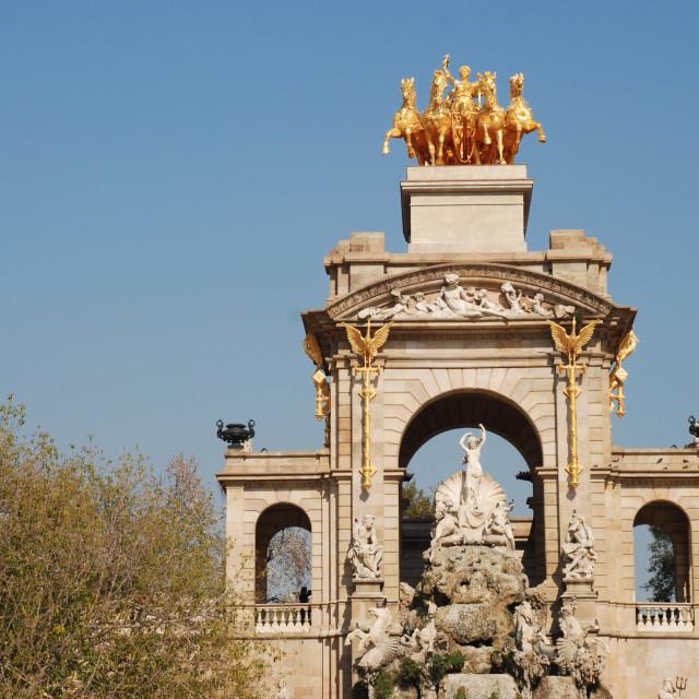 """Parc de la Ciutadella Cascada, Barcelona"" stock image"