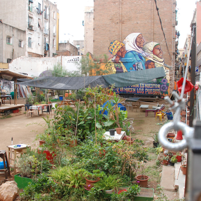 """""""Another way of living - Urban Allotment"""" stock image"""