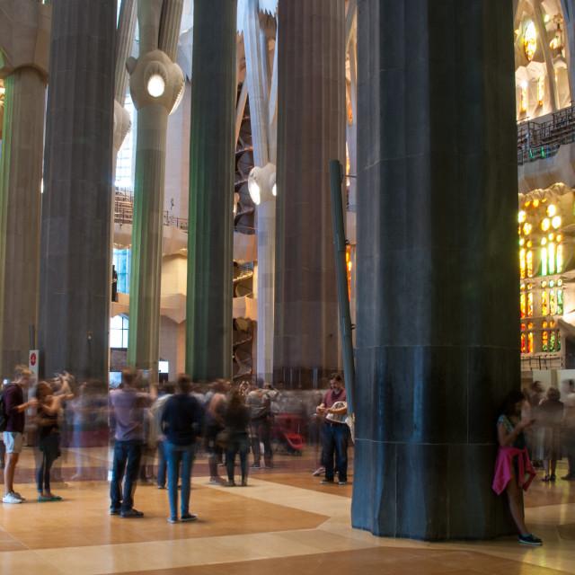 """Inside Gaudi's Sagrada Familia"" stock image"