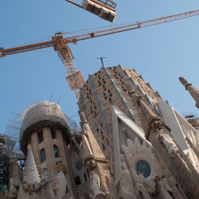 """Sagrada Familia - Under Construction, still."" stock image"