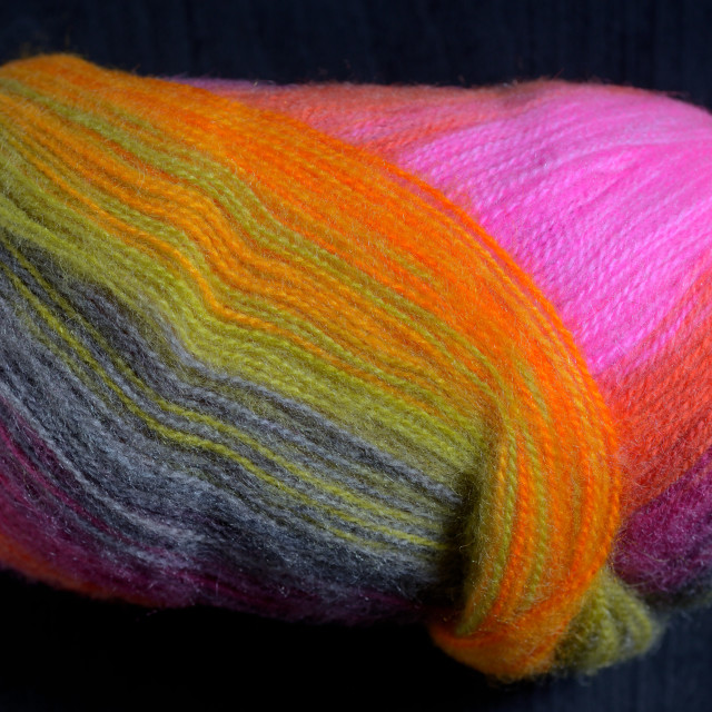 """Colorful knitting wool"" stock image"