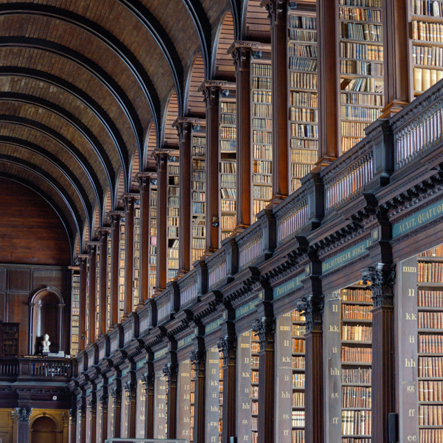 """The Old Library, Trinity College, Dublin, Ireland - The Book of Kells 17. 06,..."" stock image"