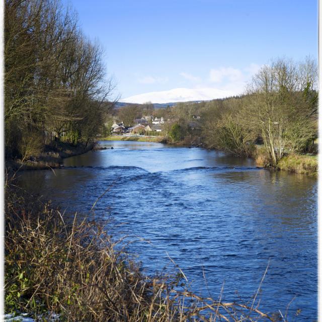 """River Cree at Newton Stewart,"" stock image"
