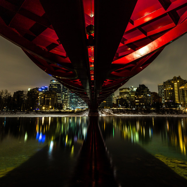 """Calgary Peace Bridge"" stock image"