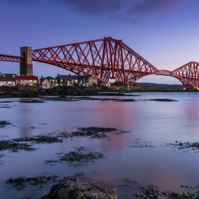 """ForthBridge sunset"" stock image"