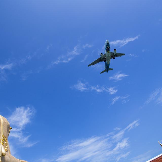 """Bangkok Airways flight to Koh Samui"" stock image"