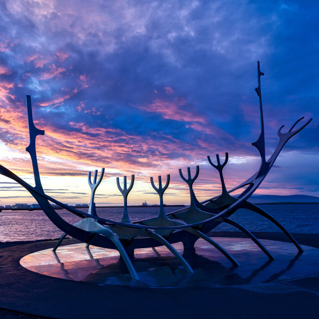 """Sun Voyager Sculpture"" stock image"
