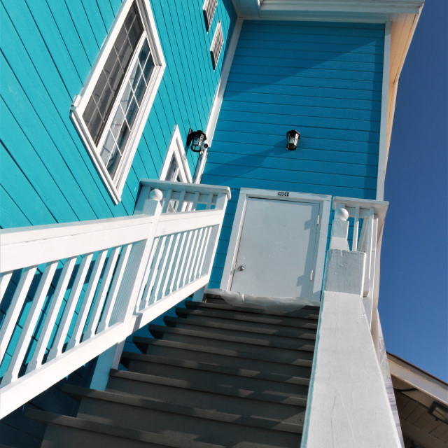 """""""A house in shades of blue"""" stock image"""