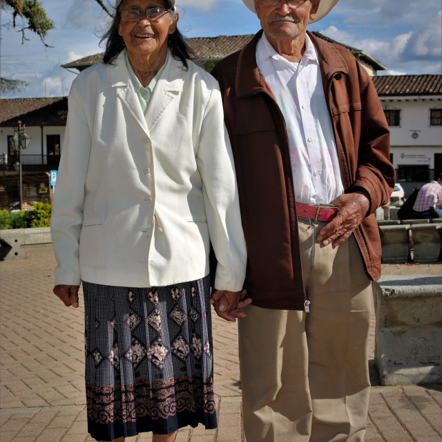 """A colombian elder couple"" stock image"