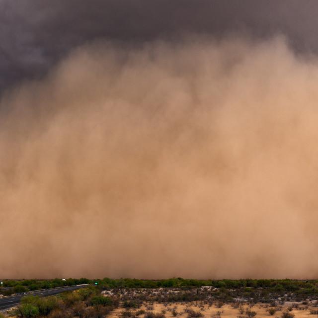 """Dust storm panorama"" stock image"