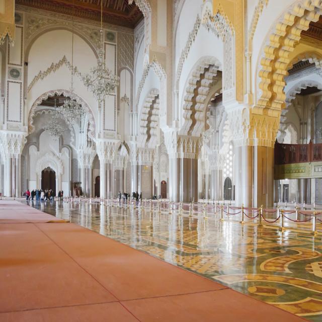 """Internal of Hassan II Mosque in Casablanca, Morocco"" stock image"