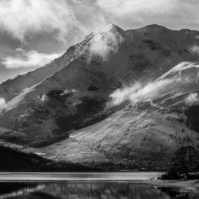 """Loch Leven Glencoe"" stock image"