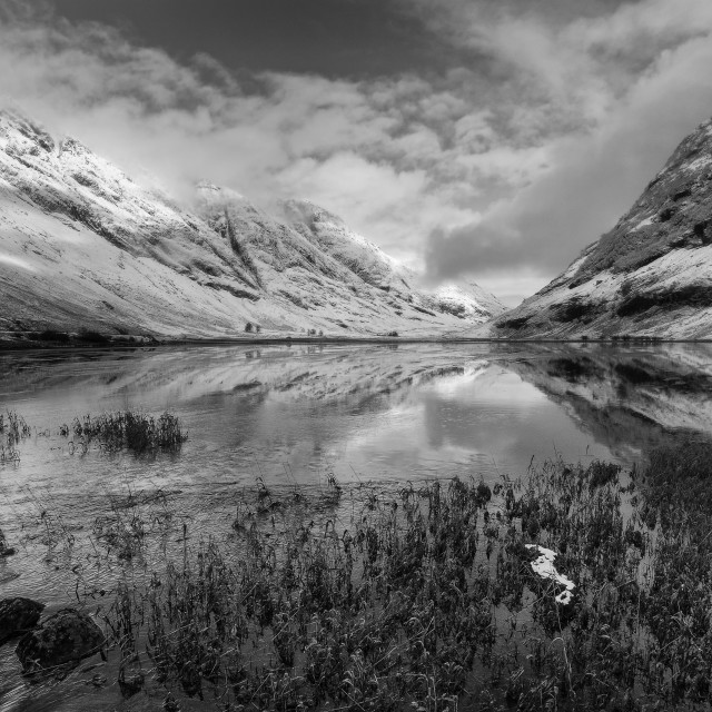 """Loch Achtriochtan"" stock image"