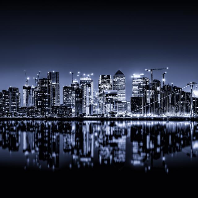 """Metropolis Blue"" stock image"