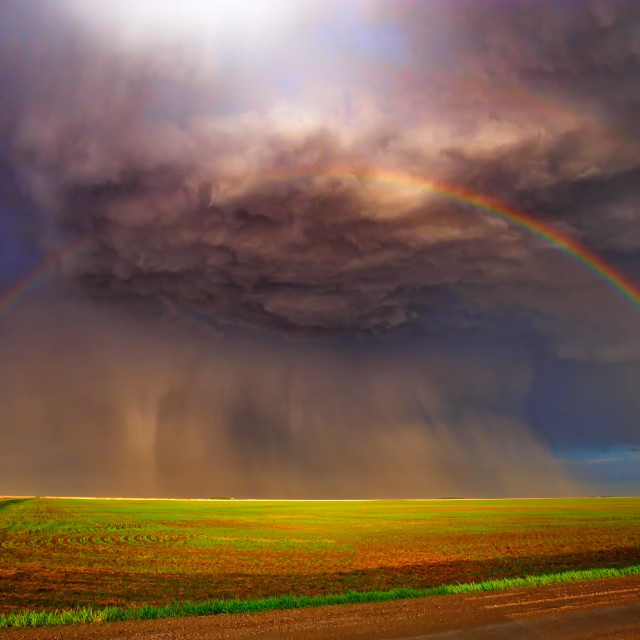 """rainbow storm"" stock image"