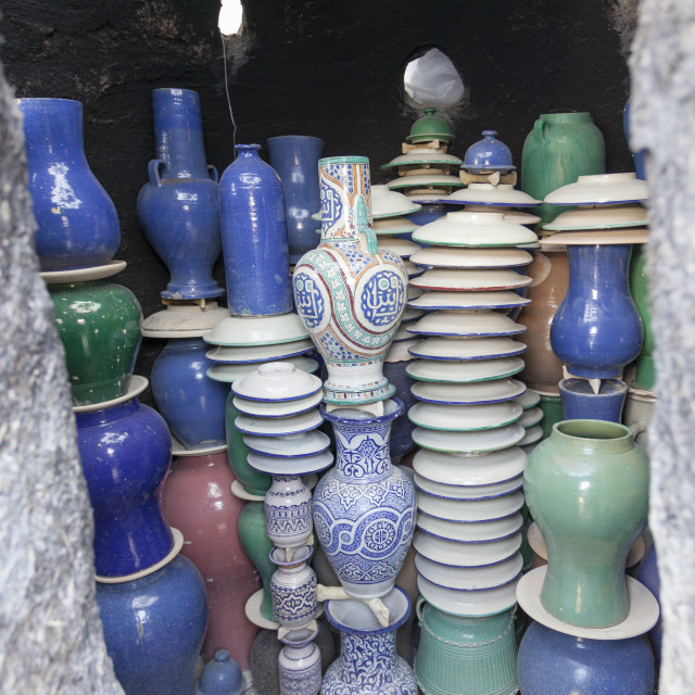 """""""Pottery in Kiln, Fes, Morocco"""" stock image"""