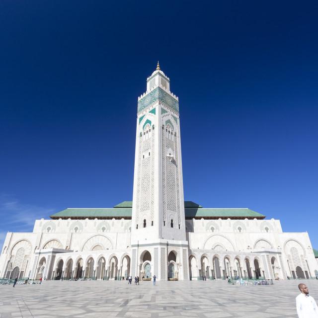 """""""Grande Mosquée Hassan II"""" stock image"""
