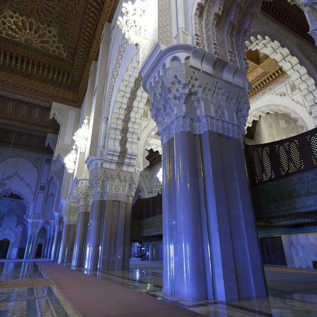 """""""Grande Mosquée Hassan II Interior"""" stock image"""