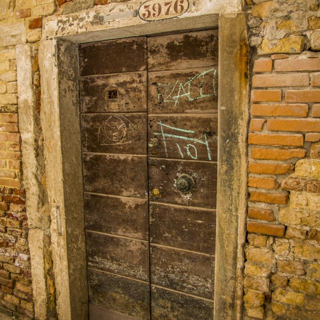 """""""Old Venice Door."""" stock image"""