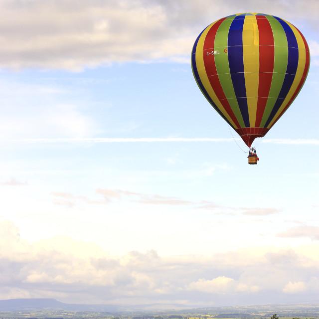 """Balloon over Northallerton."" stock image"