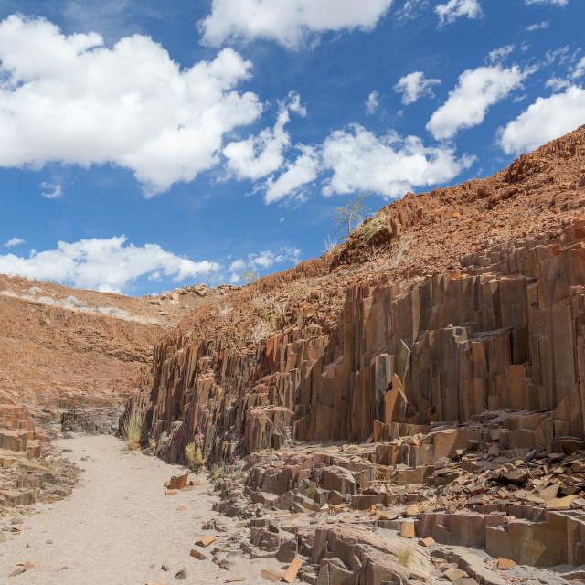 """""""Organ Pipes, natural rock formation near Doro Nawas"""" stock image"""