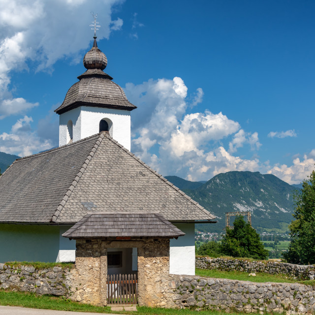 """St. Katherine Church in Slovenia"" stock image"