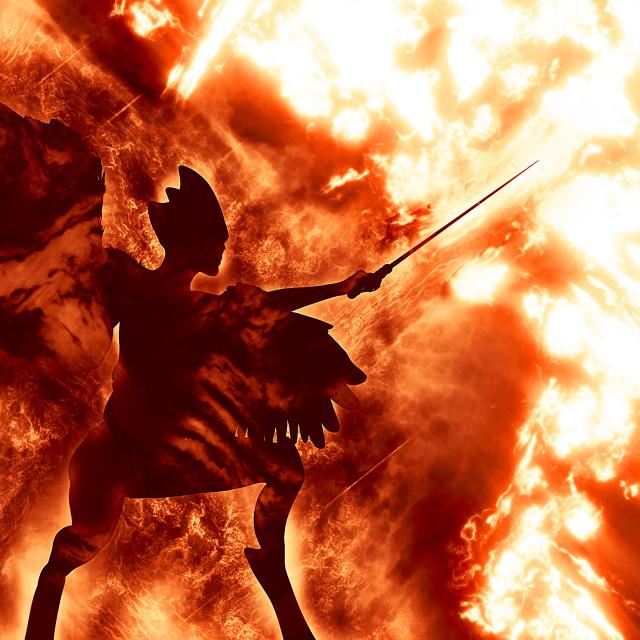"""Diabolic demon in hell"" stock image"