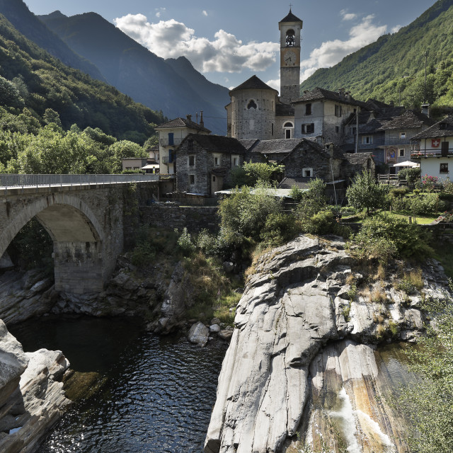 """""""Lavetezzo is a Swiss commune in the Canton of Ticino"""" stock image"""
